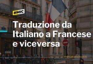 Traduzione da italiano a francese e viceversa