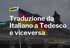 Traduzione da italiano a Tedesco e viceversa