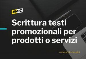 Scrittura testi promozionali per prodotti o servizi