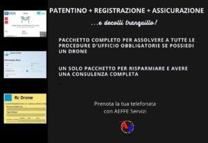 01. PATENTINO + REGISTRAZIONE + ASSICURAZIONE.. e decolli tranquillo! (All in 1)